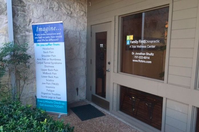 Your first visit to the South Austin office of Family First Chiropractic.